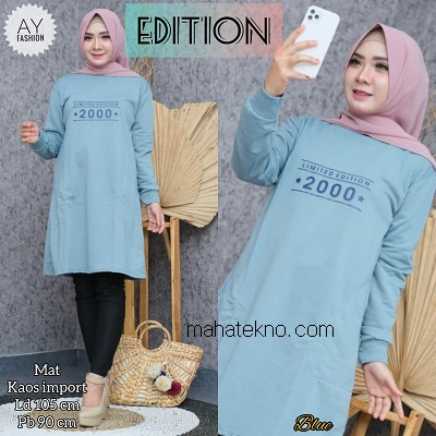 tunik kaos import limited edition