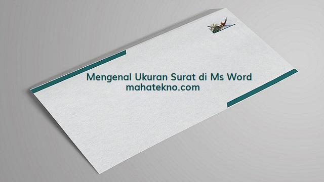 ukuran amplop surat